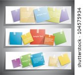 web banners with reminder... | Shutterstock .eps vector #104575934