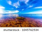 river water horizon landscape | Shutterstock . vector #1045762534