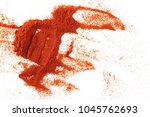 pile of red paprika powder... | Shutterstock . vector #1045762693