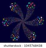 colorful intellect gear... | Shutterstock . vector #1045768438
