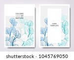floral greeting invitation card ... | Shutterstock .eps vector #1045769050