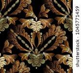 embroidery baroque vector... | Shutterstock .eps vector #1045771459
