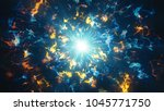 blue and orange glowing fractal ... | Shutterstock . vector #1045771750