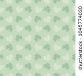 vector irish pattern . clovers... | Shutterstock .eps vector #1045774030