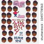 black boy. twenty eight... | Shutterstock .eps vector #1045778563