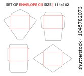 set of envelope c6 size... | Shutterstock .eps vector #1045782073