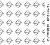 seamless geometric ornamental... | Shutterstock .eps vector #1045786753