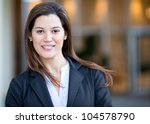 portrait of a businesswoman... | Shutterstock . vector #104578790