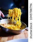 Chef Hands Plating Spaghetti...