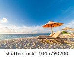 beautiful beach landscape.... | Shutterstock . vector #1045790200