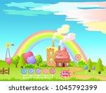 candy factory cartoon vector... | Shutterstock .eps vector #1045792399