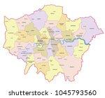 greater london vector map. | Shutterstock .eps vector #1045793560