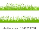 vector green grass  natural ... | Shutterstock .eps vector #1045794700