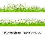 vector green grass  natural ... | Shutterstock .eps vector #1045794700