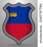 flag of liechtenstein. vector...   Shutterstock .eps vector #1045797784