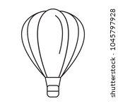 hot air ballon icon. outline... | Shutterstock .eps vector #1045797928