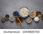 ingredients for cooking... | Shutterstock . vector #1045800703