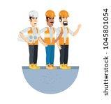 under construction design  | Shutterstock .eps vector #1045801054