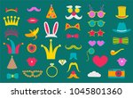 photo booth props set vector... | Shutterstock .eps vector #1045801360