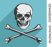 jolly roger skull and...   Shutterstock .eps vector #1045804420