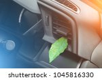 green leaf in the car air....   Shutterstock . vector #1045816330