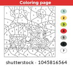 educational number coloring... | Shutterstock .eps vector #1045816564