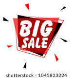big sale  sign with red label | Shutterstock .eps vector #1045823224