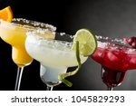 lime margarita  orange... | Shutterstock . vector #1045829293