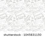 summer rest pattern | Shutterstock .eps vector #1045831150