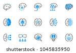 brainstorming line icons set.... | Shutterstock .eps vector #1045835950