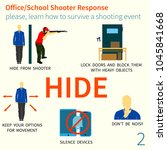 office and school shooter... | Shutterstock .eps vector #1045841668