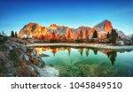 tofana di rozes mountain ridge. ... | Shutterstock . vector #1045849510