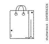dotted shape bag shopping... | Shutterstock .eps vector #1045856326