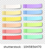 post note sticky stickers with...   Shutterstock .eps vector #1045856470