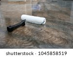 epoxy floor in warehouse... | Shutterstock . vector #1045858519