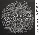 cartoon cute doodles hand drawn ...   Shutterstock .eps vector #1045859713