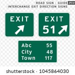road sign. hospital signs. ... | Shutterstock .eps vector #1045864030
