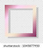 gold rose foil smudge frame.... | Shutterstock .eps vector #1045877950