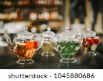 a selection of refreshing fruit ... | Shutterstock . vector #1045880686