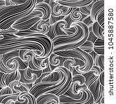 elegant seamless pattern with... | Shutterstock . vector #1045887580