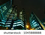 illuminated office buildings in ... | Shutterstock . vector #1045888888