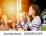 group of good looking people... | Shutterstock . vector #1045891249
