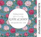 wedding cards floral design.... | Shutterstock .eps vector #1045894876