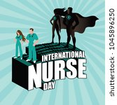 international nurse day design... | Shutterstock .eps vector #1045896250