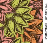 seamless floral background.... | Shutterstock .eps vector #1045897468