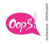 word oops. trend calligraphy.... | Shutterstock .eps vector #1045901644