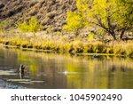 fly fishing on the owyhee river ... | Shutterstock . vector #1045902490