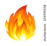 symbol of fire | Shutterstock .eps vector #104590538