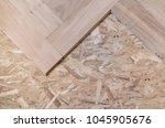 floor parquet installation | Shutterstock . vector #1045905676