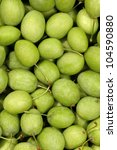 collection of green olives full ... | Shutterstock . vector #104590880